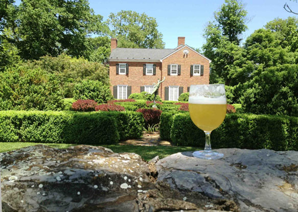 Allagash White pairs well with garden weddings!