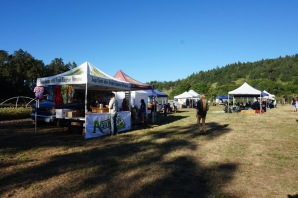 Agrarian and WildCraft booths at Pisgah Heritage Festival