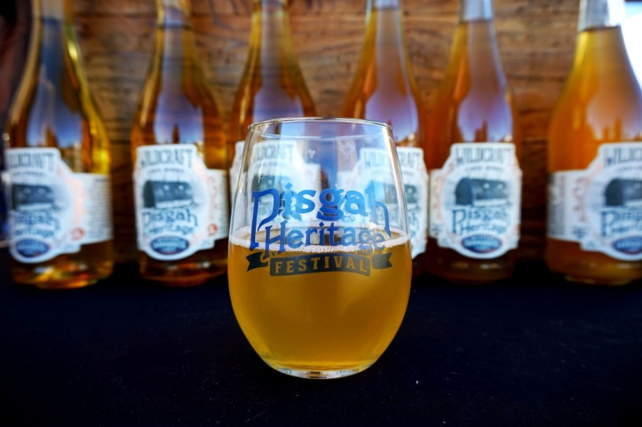 A glass of Pisgah Heritage Cider